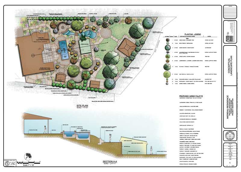 residential landscaping plan images
