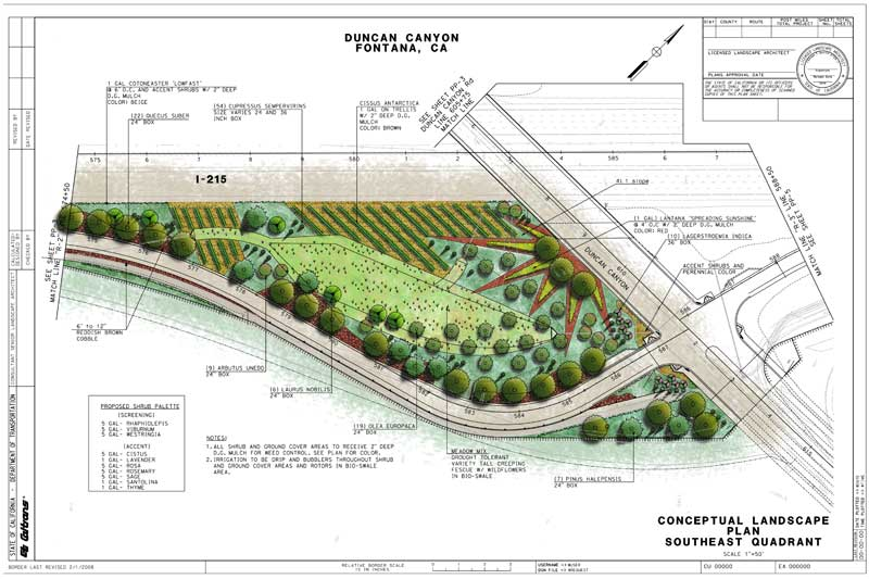 Color renderings stb landscape architects for Landscape plan rendering